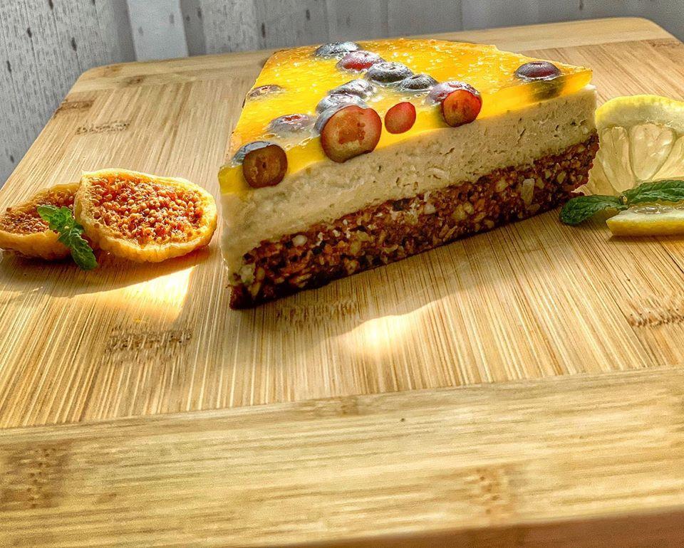 Lime-coffee-oranke Cake