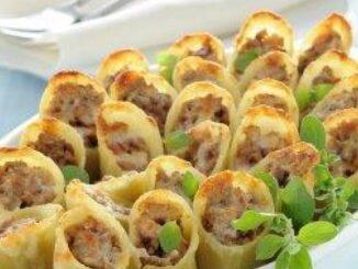 Caneloni cu carne tocată și praz