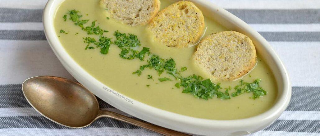 Supa-crema de praz cu cartofi